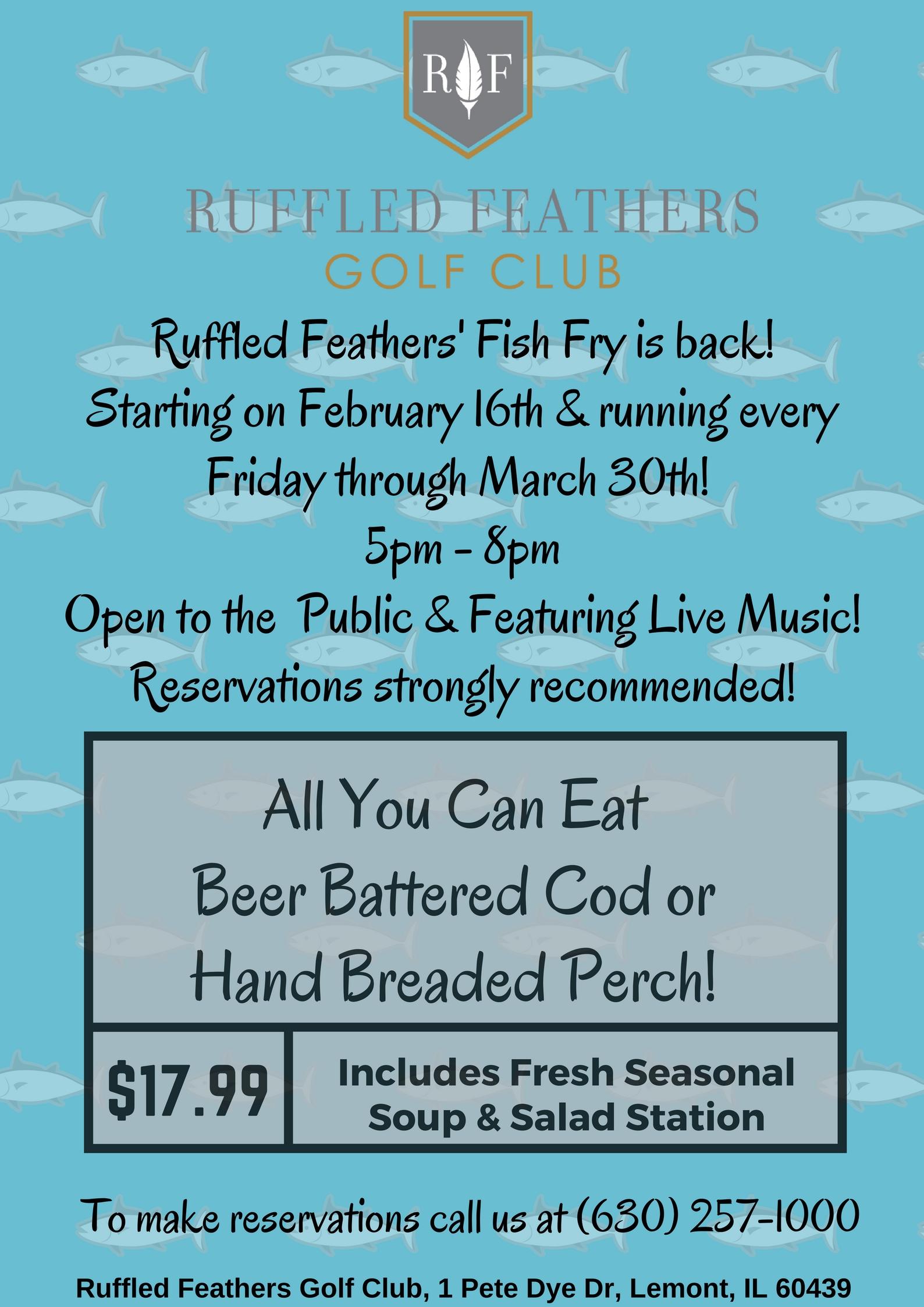 fish fry ruffled feathers golf club 2018 02 16
