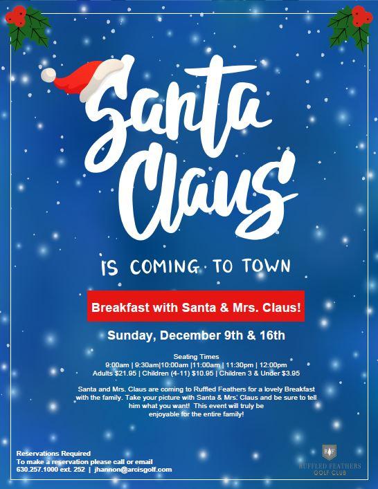 2018 Santa brunch flyer