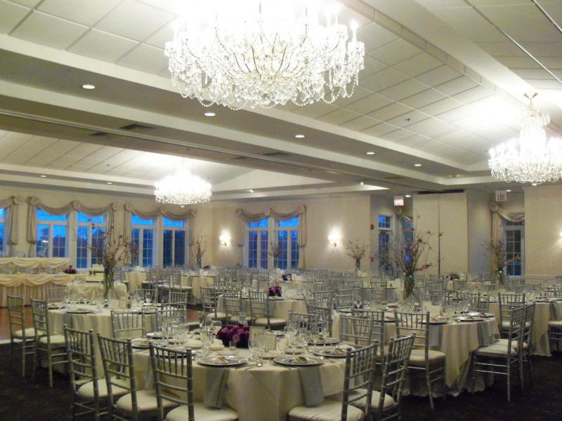 Grand Ballroom set for wedding with chiavari chairs