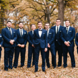 Fall Wedding with groomsmen