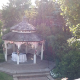Gazebo set for wedding